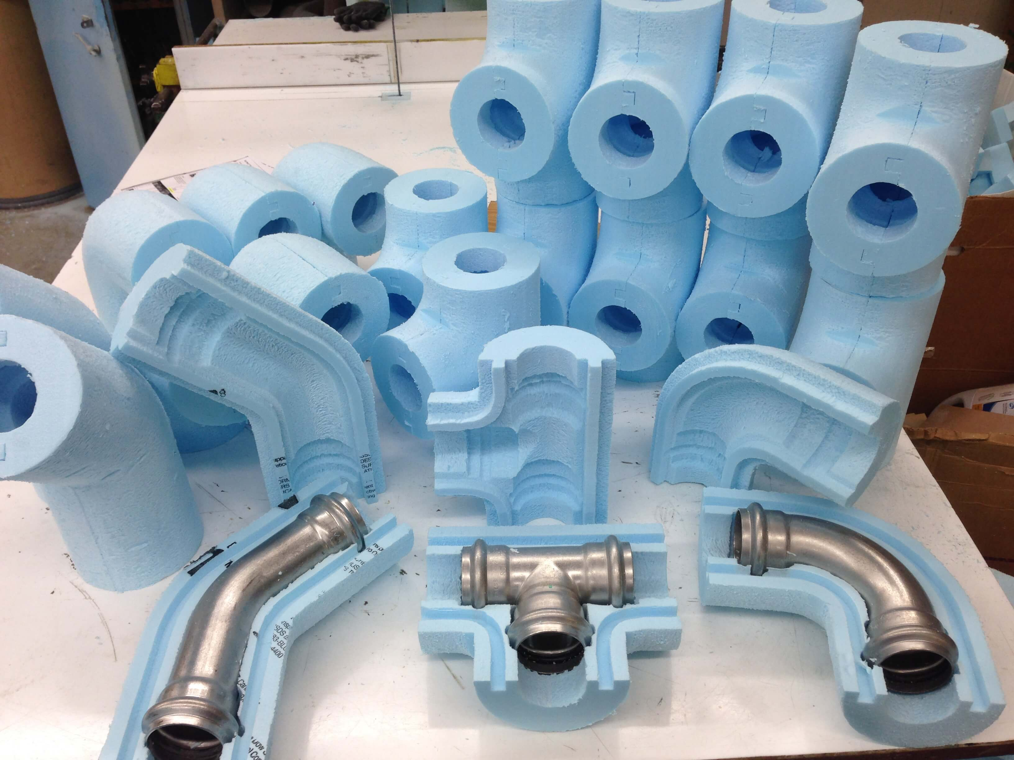 Introduction pipe system - Belform Shaped Extruded Polystyrene Pipe And Vessel Insulation